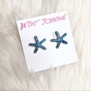 Betsey Johnson   Sea star turquoise earrings